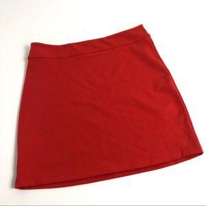 Silence + Noise Orange Bodycon Pull On Skirt L